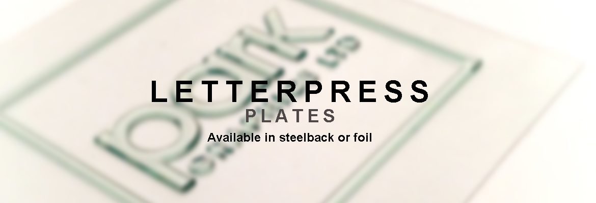 Letterpress plates available