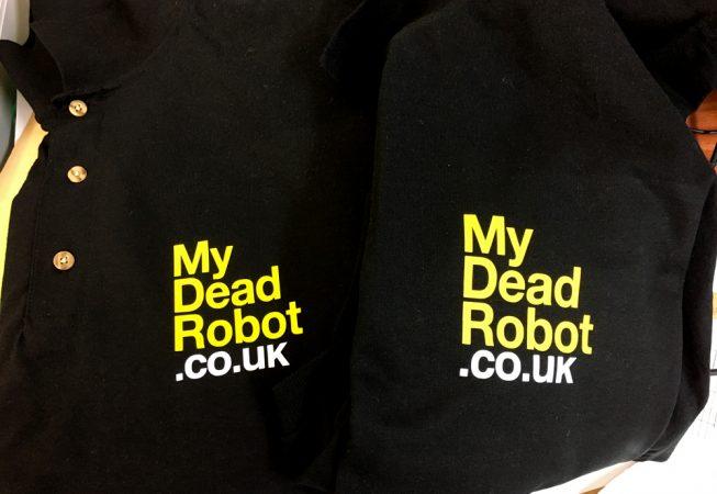 My Dead Robot polo shirt
